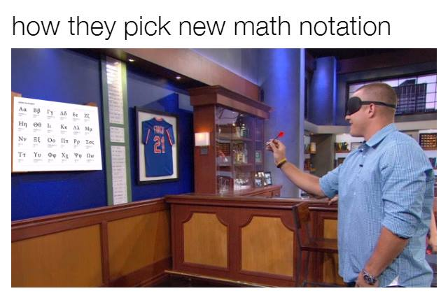 How they pick new math notation